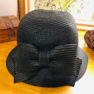 August Hats Women's Black Bow Hat